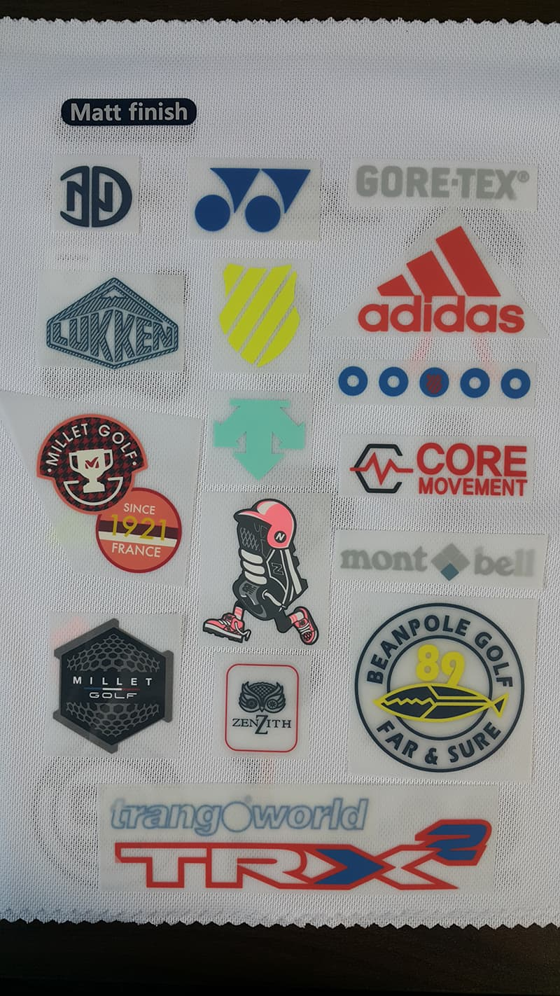 Silicone Label by Heat Transfer for sports and  apparel