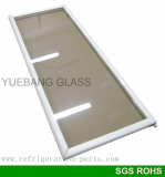 Whole Plastic Handle Glass Door for upright freezer