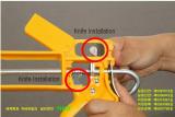 2 knives built-in silicon caulking gun