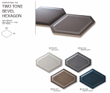CREACERA TWO TONE BEVEL HEXAGON _INTERIOR WALL TILE_ 160_200