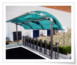 Canopy for bicycle parking racks