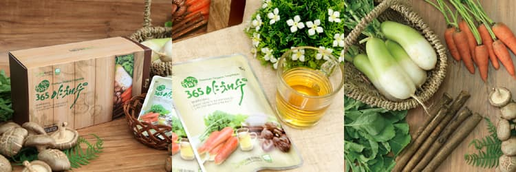 Vegetable water tea bag