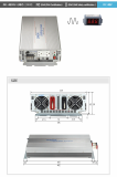 DC to AC pure sine wave inverter 3KW