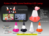 Kids Mini Traffic cone Color Changing LED