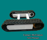 Hydraulic rubber crawler track undercarriage