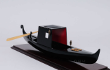 Wooden Model Boat VENETIAN GONDOLA BLACK