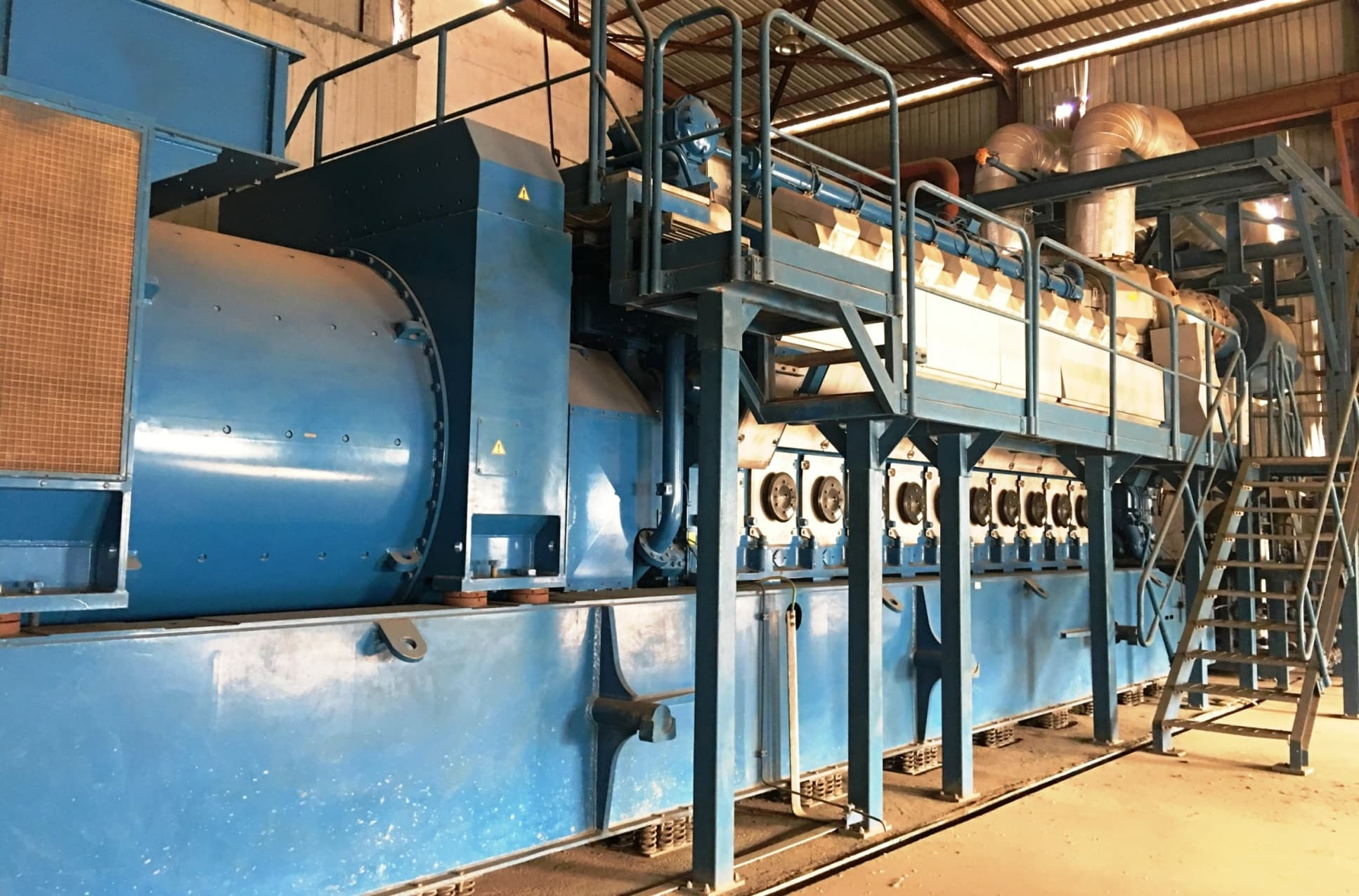 Wartsila 20V34SG 9000KW YEAR 2010 Gas Gen Set For Sale