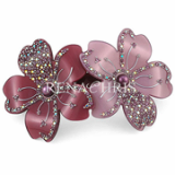 Twin Flower barrette