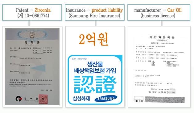 MISO-Z Engine Oil Additive/Patent Nano Zirconia | tradekorea