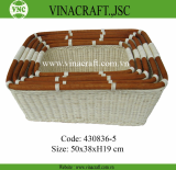 Dividers rattan nut tray with ceramic inside