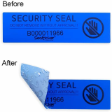 Serial Numbered Sealing Label Blue
