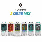 EARMAC 3 COLOR MIX EARPHONE