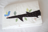 blue bird printing blanket