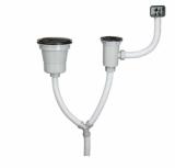Kitchen sink drain - Large & Small size drain PU-002