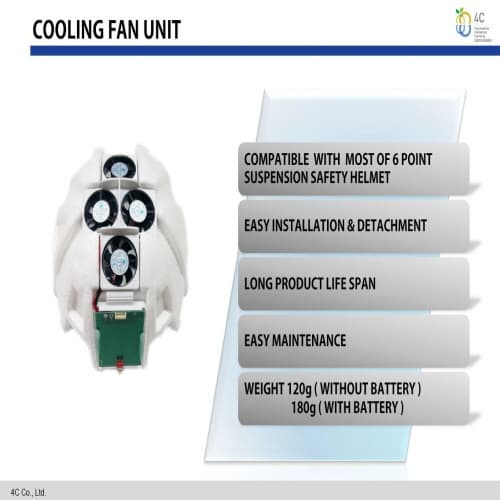 Fan Unit for Safety Helmet | tradekorea