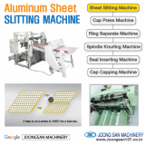 Aluminum cap sheet slitting machine