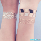 Gold and Silver Metallic Temporary Tattoo stickers