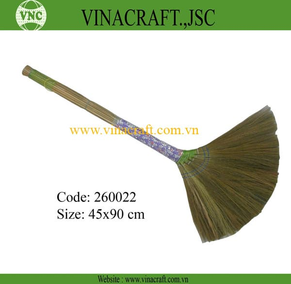 Vietnam grass broom with nice handle | tradekorea