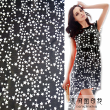100_ Polyester Printed chiffon Fabric for women long dress