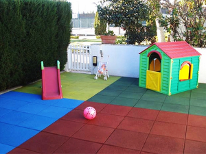Recycled Rubber Playground Tile Safety Flooring Product Thumnail Image