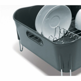 Spin Drain Way Dish Rack Grey