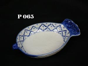 Thailand ceramic bowl pineapple shape porcelain dinnerware from M.T. ...
