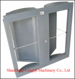Square butterfly ceiling inlet