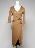 [JA-012] Short sleeve women knit dress.