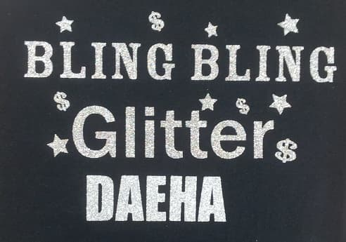 HEAT TRANSFER GLITTER VINYL FOR GARMENT AND T_SHIRTS
