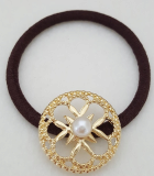 Gold circle Hair Tie