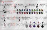 LS Body Jewelry, 316L SS Piercing, Curved Barbells
