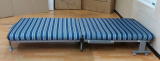 Half folding and movable steel single Bed_ Leisure Bed