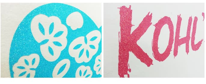 Glitter Film make splendid designs using computer by Plotter