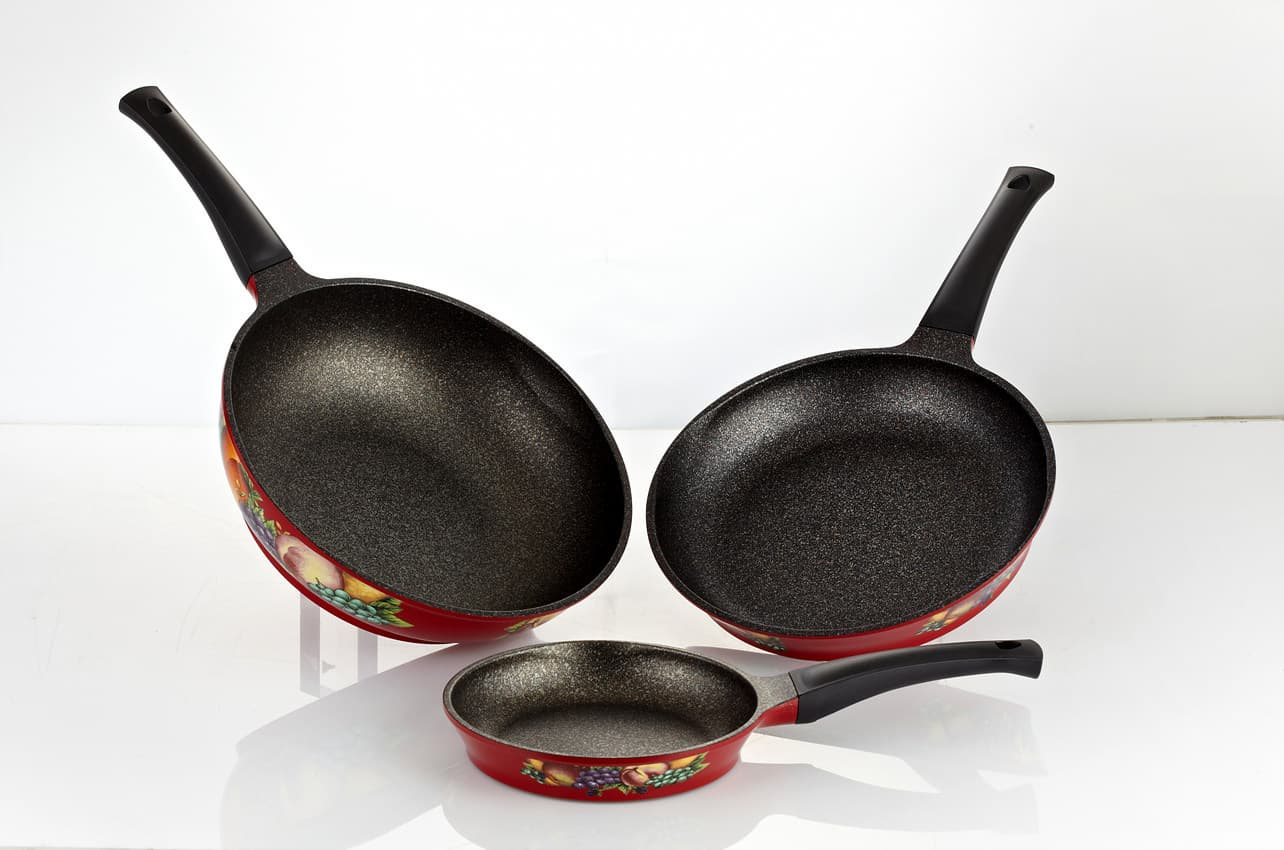 Monach Decal Printing ceramic coating Frypan series_cookware