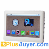 mediaPad - Full 1080P HD MP4 Player with 5 Inch Touch Screen and FM Radio - White