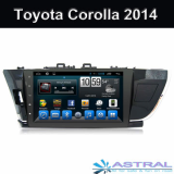 Factory Double Din Car Multimedia System Toyota Corolla 2014