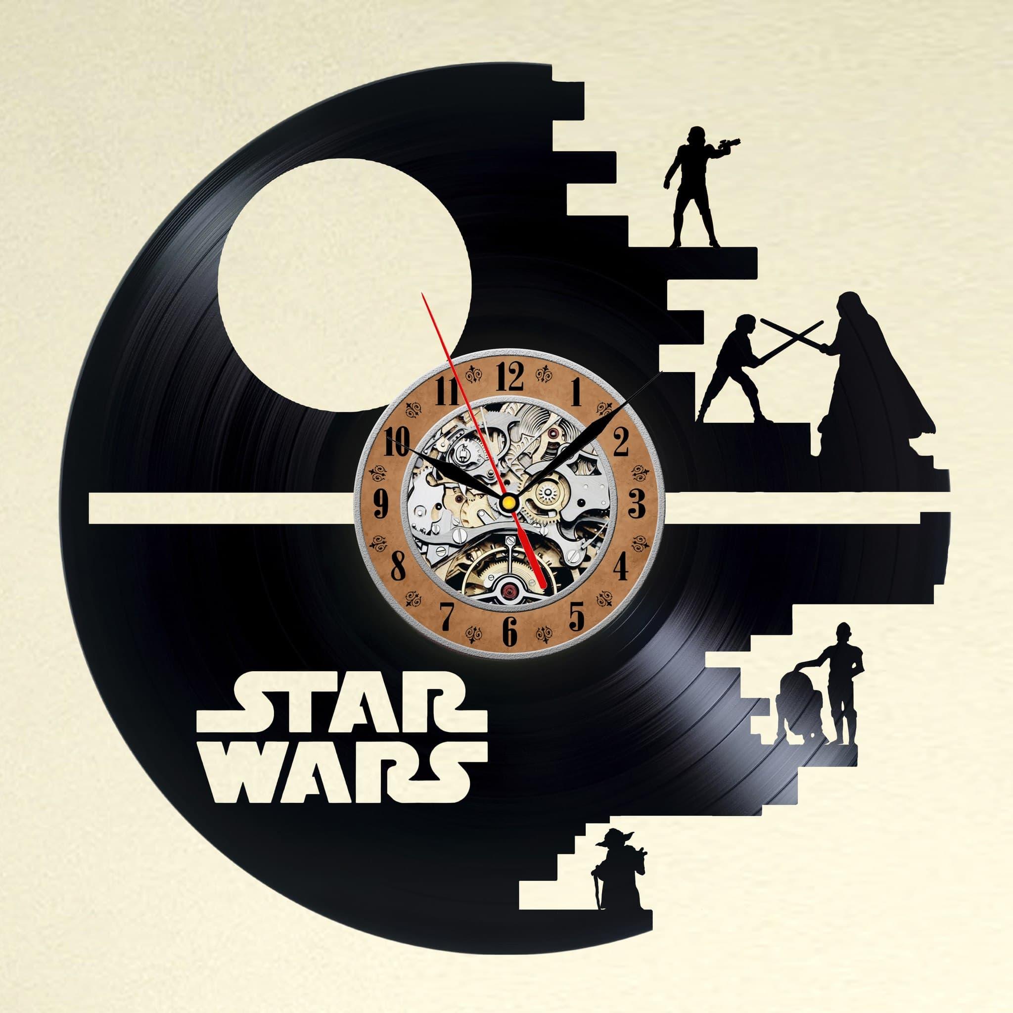 vinyl wall clock. Black Bedroom Furniture Sets. Home Design Ideas