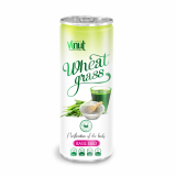 250ml Can Original Wheatgrass juice drink with Basil seed flavor