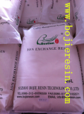 Softening ion exchange resin
