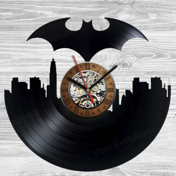 Batman Vinyl Record Clock Home Decor Party Decoration Gift