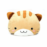 Round plush cat cushion