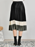 3_Layered Velvet Long Skirt