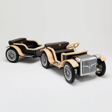 RARUS Fammily electric car Black_with Trailer