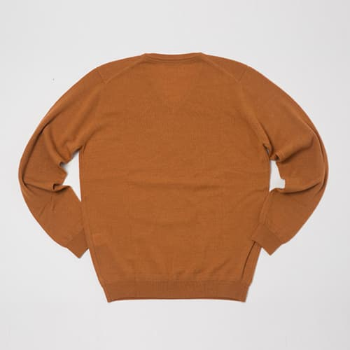 Orange V Neck knit BK-01