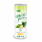 250ml Can Original Wheatgrass juice drink with Ginger flavor