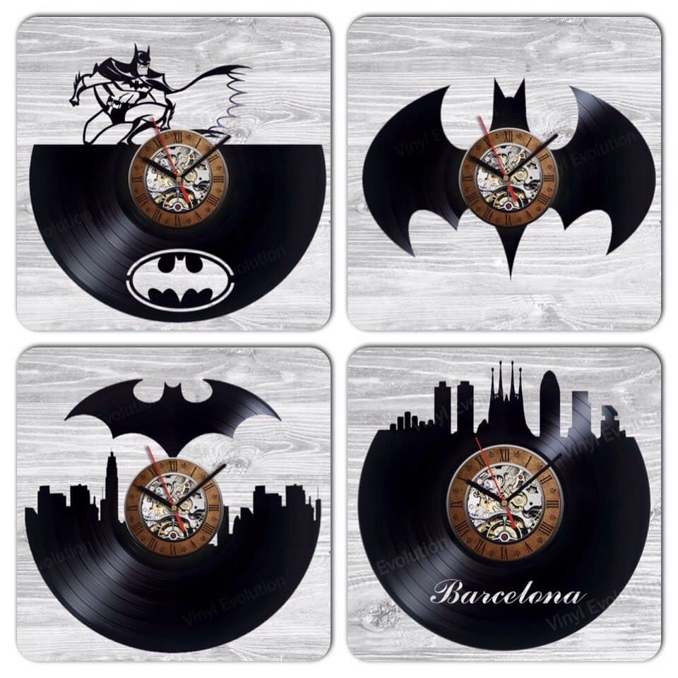 Wall clock made of vinyl record awesom home decoration or gift batman vinyl record clock home decor party decoration gift amipublicfo Image collections