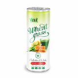 250ml Can Original Wheatgrass juice drink with Honey lime flavor