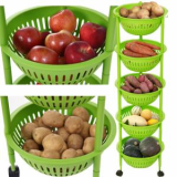 kitchen storage step basket