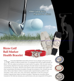 Bicox Golf Ball Marker Health Bracelet