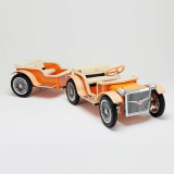 RARUS FAMILY ELECTRIC CAR _ TRAILER _Orange_